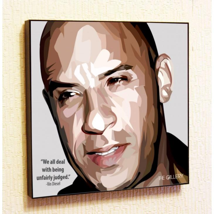 Картина постер в стиле поп-арт Вин Дизель