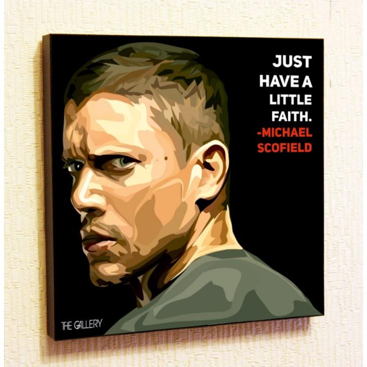 Картина постер в стиле поп-арт Майкл Скофилд