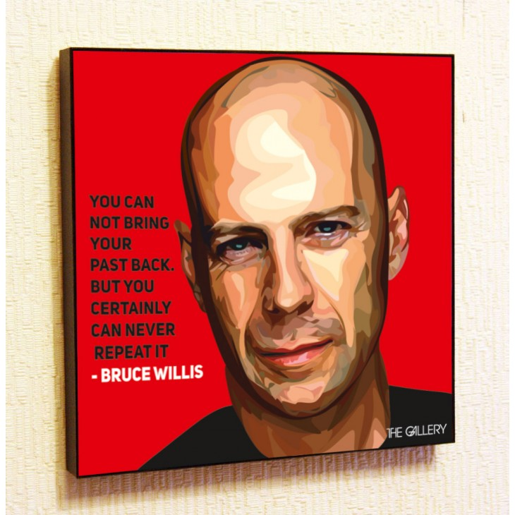 Картина постер в стиле поп-арт Брюс Уиллис