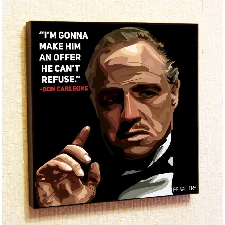 Картина постер в стиле поп-арт Дон Корлеоне