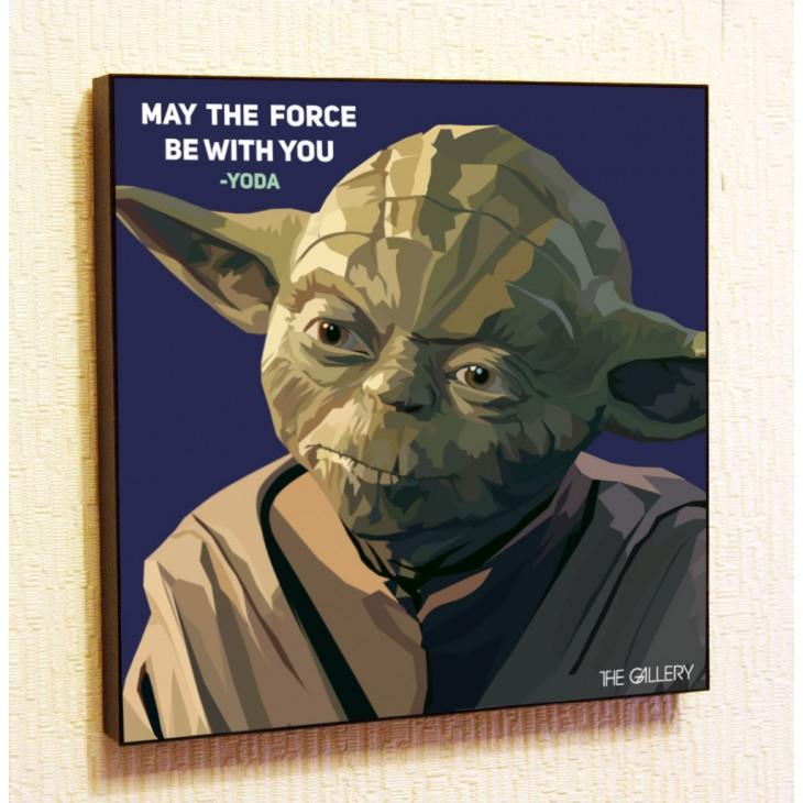 Картина постер в стиле поп-арт магистр Йода
