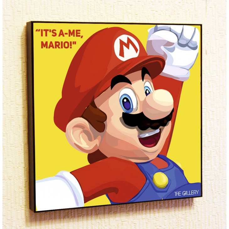 Картина постер в стиле поп-арт Марио