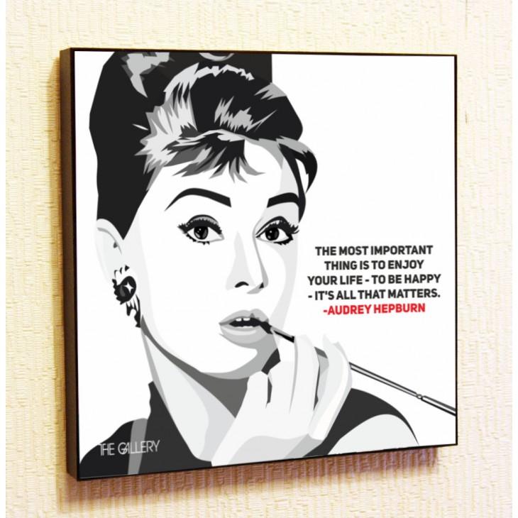 Картина постер в стиле поп-арт Одри Хепберн