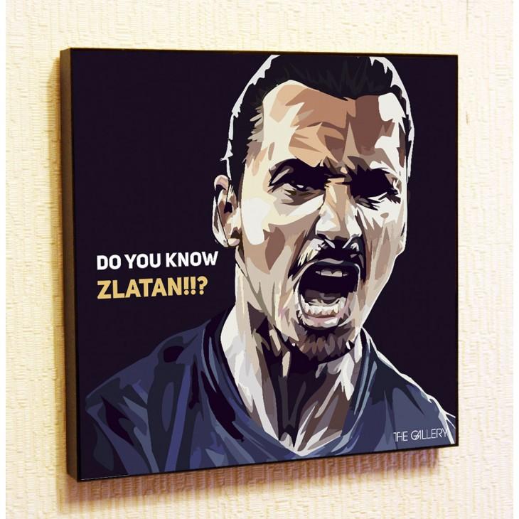 Картина постер в стиле поп-арт Златан Ибрагимович