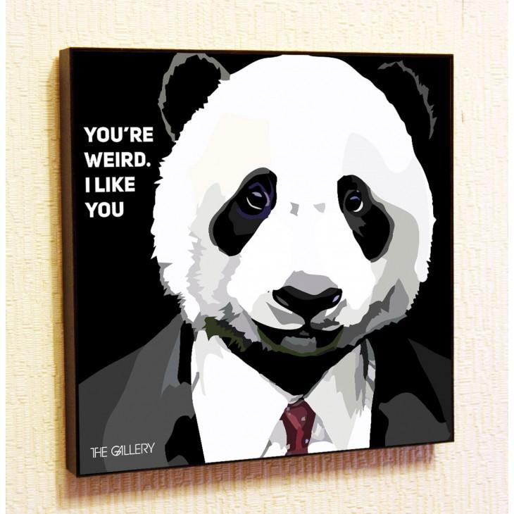 Картина постер в стиле поп-арт Деловая Панда