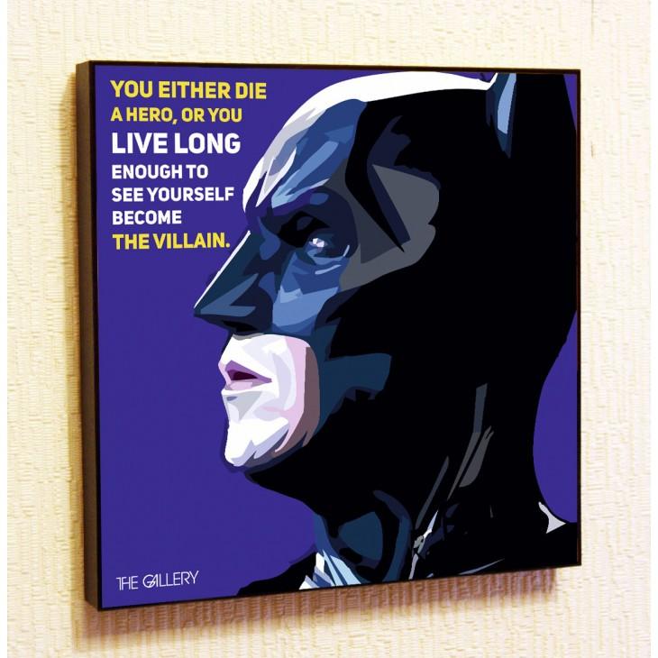 Картина постер в стиле поп-арт  Бэтмен (Темный Рыцарь)
